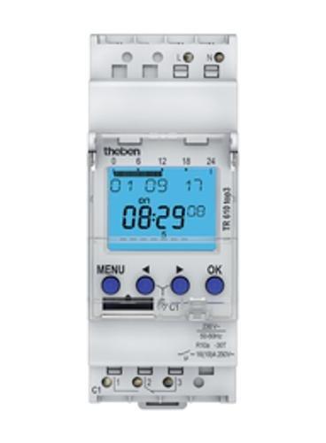 Preisvergleich Produktbild Theben 6100130 TR610 top3 - Digitale 1-Kanal Zeitschaltuhr mit App-Programmierung, perfekt für LEDs
