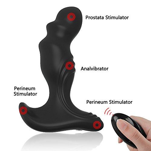 MEROURII Analvibrator mit Fernbedienung, Prostata Stimulator Vibratoren Massagegerät mit 7 Vibrationsmodi, Prostate Butt Plug Analplug Analsexspielzeuge für Paar - USB Wiederaufladbar