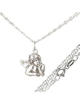 Schutz Engel Rafael Kettenanhänger mit 45 cm Halskette aus 925 Silber#530