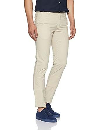 Arrow Sports Men's Straight Fit Cotton Casual Trousers (ASVTR2403_34W x 34L_Khaki)
