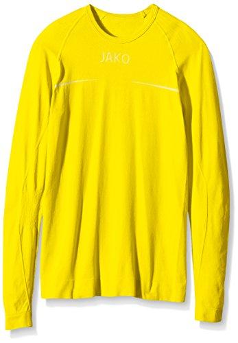 JAKO Longsleeve Comfort - Herren Langarmshirt,gelb (citro), S