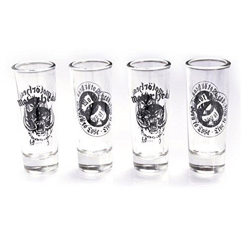 Motörhead Schnapsgläser, Glas, transparent, 4 x 4 x 10.5 cm