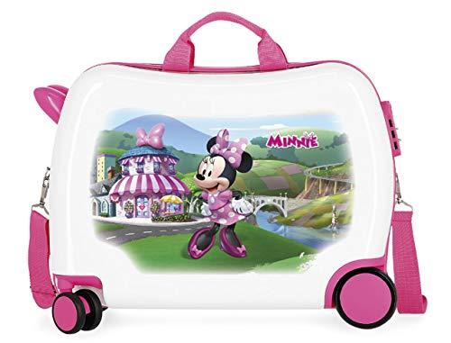 Disney minnie mouse 4699872 valigia trolley, bambini, cavalcabile, 50 centimetri, 34 litri