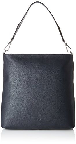 BREE Collection Damen Cary 13, Hobo L Schultertasche, Blau (Navy), 14x34x33 cm