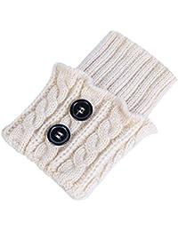 omufipw 1 Pares de Mujeres de Invierno Calentadores de piernas Calientes Botas Cortas Calcetines Calcetines de