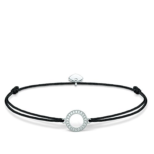 THOMAS SABO Damen Armband Little Secret Kreis Kreis Little Secret 925er Sterlingsilber, Nylon LS010-401-11
