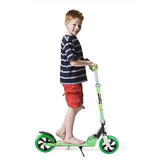 Homgrace Scooter Roller Klappbar Tretroller Big Wheel Kinderroller Cityroller für Kinder, 80-104cm Höhenverstellbar - Grün