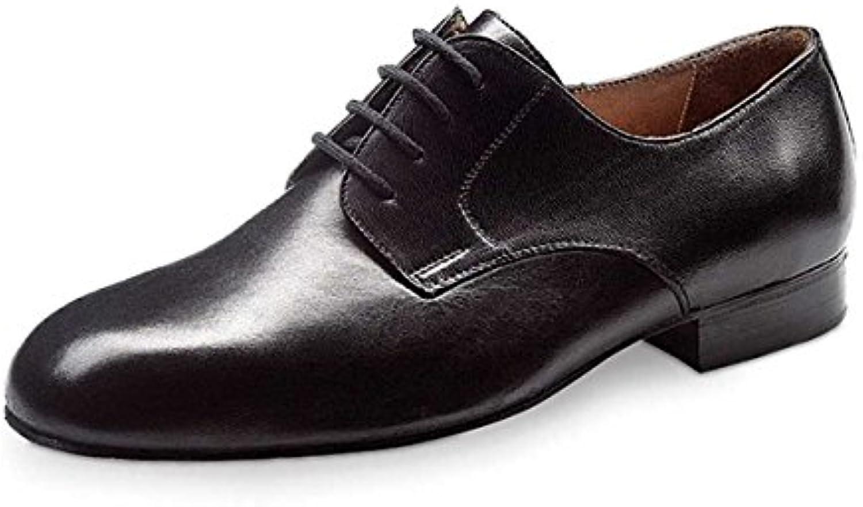Werner Kern Hombres Zapatos de Baile 28010 - Cuero Negro - Ancho - 2 cm Ballroom  -