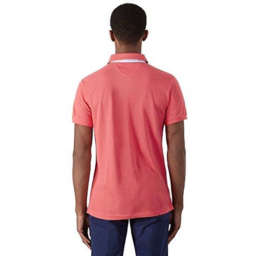 HACKETT LONDON Herren Poloshirt Print Clr Polo Bright Coral