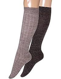 Lana de calcetines para hombre calcetines hasta la rodilla calcetines de lana calientes calcetines de esquí