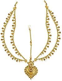 Zaveri Pearls Antique Gold-Toned Traditional Maangtikka-ZPFK6634