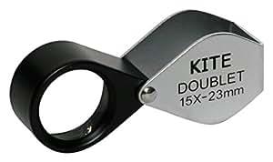 Doublet Kite 15x -lente d'Grossissement 15x, diamètre frontale 23mm, Couleur: Noir