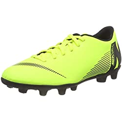 Nike Vapor 12 Club MG, Zapatillas de Fútbol Unisex Adulto, Verde (Volt/Black 701), 43 EU