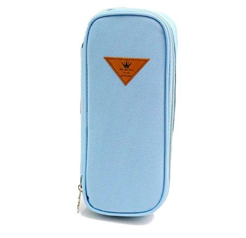 Katara 1800 Estuche de Lápices Escuela / Oficina Papelería – Bolso Escolar Portalápices, Azul Claro