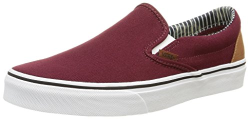 VansClassic Slip-On - Zapatillas de Deporte Unisex adulto, Rojo (c&l/port Royale/stripe Denim), EU 41