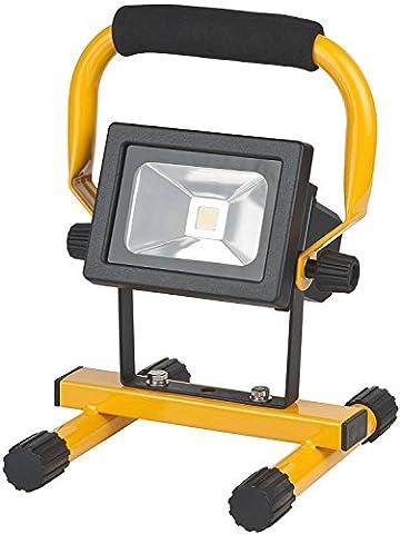 Brennenstuhl Mobile Akku Chip-LED-Leuchte / LED Strahler Akku (Außenleuchte 10 Watt, Baustrahler IP54, Fluter Tageslicht) Farbe: