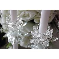 hcaa vela soporte cristal de nenúfares flor de loto adorno regalo