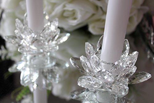 Home comfort and accessories ltd, portacandele in cristallo a forma di fiore di loto, ideale come decorazione e regalo