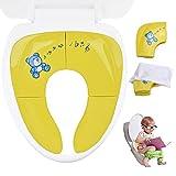 Cymax Faltbare Toilettensitze für Kinder/Baby/Jungen /Mädchen , Tragbarer Reise WC Sitz,Toiletten Training Sitz , Kleinkind Töpfchen mit Aufbewahrungstüte
