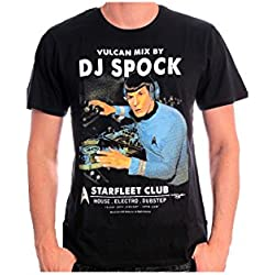 Star Trek DJ Spock Camiseta Negro XL