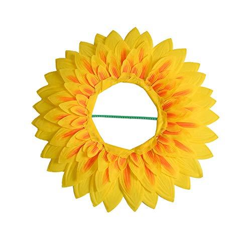 Einfach Kostüm Festival - Sonnenblume Kopfbedeckung,lustige Leistung Requisiten Hut für Dance Party Festival Games Kids Teens Erwachsene