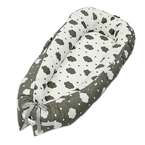 RZJ-Puzzle Gefaltetes Babyreisebett Kinderbett Korb Star Pattern Schnell Einfach Zusammenzubauen Gut Geschlafen Kann Das Nächste Bett Stellen,A -