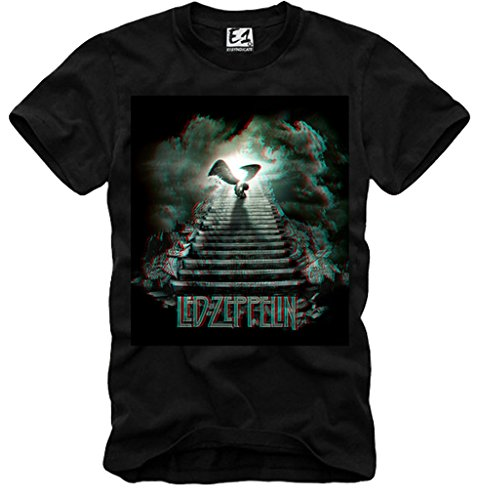 E1SYNDICATE T-SHIRT LED ZEPPELIN STAIRWAY TO HEAVEN DEEP PURPLE THE WHO DOORS NERO S-XL