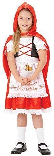Mädchen Rotkäppchen Märchen Buch Tag Woche Halloween Kostüm Kleid Outfit 3-8 jahre - Rot, Mädchen, (Buch Kostüm Märchen Halloween)