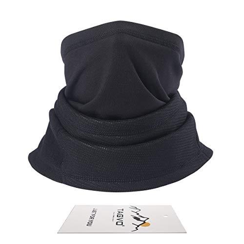 Tagvo scaldacollo invernale in pile, spessa manica lunga con collo in ghetta, antivento passamontagna con cappuccio scaldacollo cappuccio elastico universale