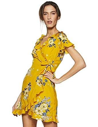 64b82e4404f DODO   MOA Synthetic wrap Dress  Amazon.in  Clothing   Accessories
