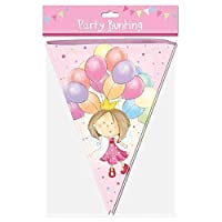 Childrens Girls Fairy Princess Bunting Happy Birthday Decoration 3M Long