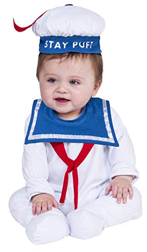 Stay Puft Marshmallow Man Onesie Costume Size 6-12 Months (Marshmallow Ghostbusters Kostüm Man)