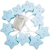LEDMOMO 1 Mt 10 LED Stern Lichterketten Batteriebetriebene Lichterkette für Weihnachten Urlaub Hochzeit Hausgarten... preisvergleich bei billige-tabletten.eu
