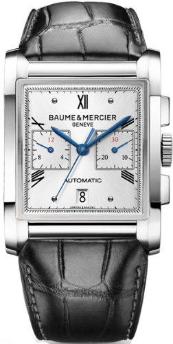 Baume y Mercier Hampton 10032reloj para hombre esfera de plata