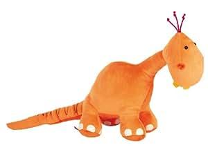 Sigikid 38332 - Plüschtier Dino, groß DibuDabaDinos, orange