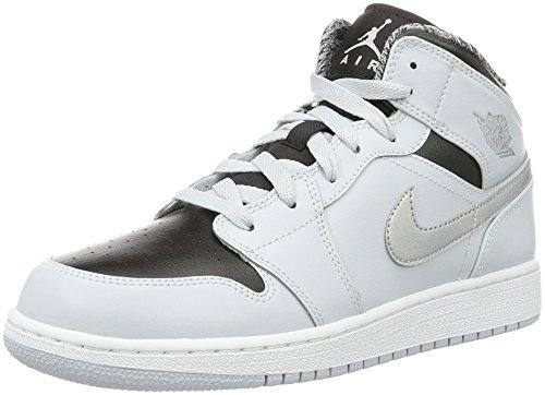 Nike Air Jordan 1 Mid Gs, Scarpe da Basket Bambini