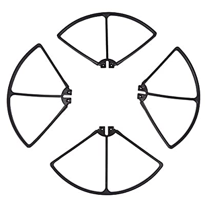 Propellers Blades & Propeller Protectors Blades Frame & Landing Skid Set RC Drone Accessory for Syma X8C/X8W/X8G/X8HC/X8HW/X8HG Drone (Black)