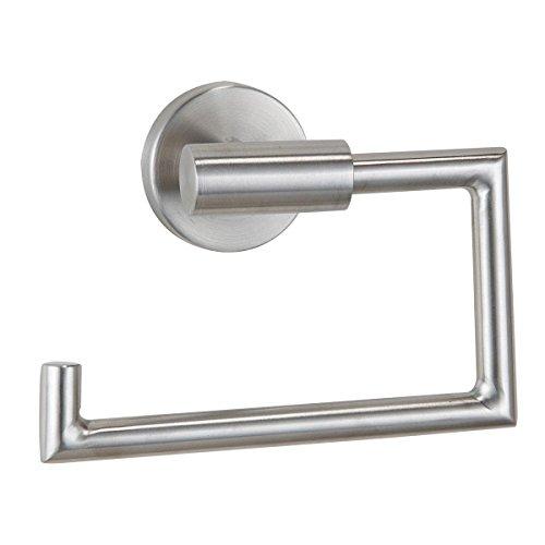 axentia Toilettenpapierhalter aus Edelstahl - WC Rollenhalter Wand inklusive Befestigung - Design Klopapierhalter zur Wandbefestigung im Bad, modern & elegant (Tragen Wc-papierhalter)
