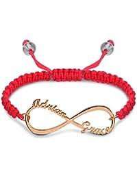 c9e8ea13b458 Souljewelry Pulsera Infinita con 2 Nombres Elegante Pulsera de Pedida  Personalizada de Plata Ley925 con Cadena