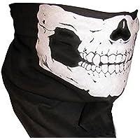Skull Face Mask- Neck Tube Scarf Snood Balaclava- Ski Cycle Biker BMX Paintball Bandana