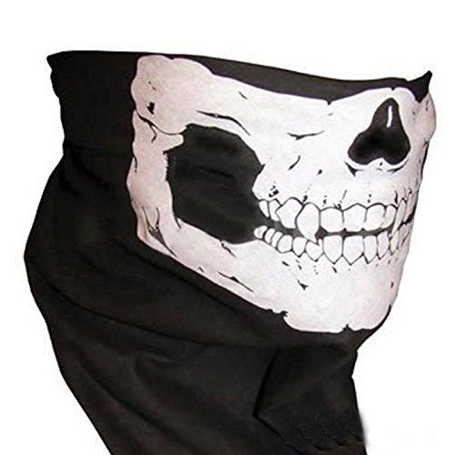 Scaldacollo con maschera a teschio, sciarpa, passamontagna, bandana, per sci, bicicletta, bmx e paintball