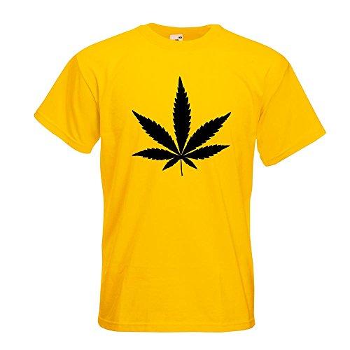 KIWISTAR - Hanf T-Shirt in 15 verschiedenen Farben - Herren Funshirt bedruckt Design Sprüche Spruch Motive Oberteil Baumwolle Print Größe S M L XL XXL Gelb