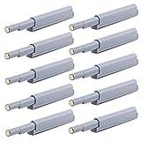 Paquete de 10 cierres magnéticos para puertas de armario con amortiguador de presión y cierre magnético, para puerta de armario de cocina, Libreria o