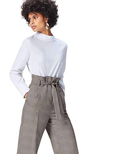 FIND Blusa de Manga Larga para Mujer, Blanco, 40 (Talla del Fabricante: Medium)