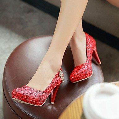 Moda Donna Sandali Sexy donna tacchi Primavera / Estate / Autunno / Piattaforma di scarpe e borse di corrispondenza matrimonio sintetico / Party & Sera Stiletto HeelCrystal / fiocco / Red