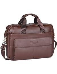 BOLO 13 14 pollici Cartella per laptop fatto a mano Pelle ventiquattrore  Spalla aziendale Borsa da a699ca30c2c