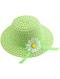 Hosaire Sombrero de Paja de Ala Ancha Verano Gorra Sombrero Anti UV Solar  para Viaje Playa 64acf596ac6