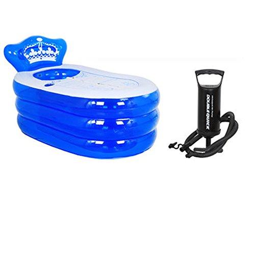 Verdickte erwachsene Wanne Faltende Badewanne Kinder BathTub Plastikbad Eimer ( farbe : Blau , größe : 160*90*75cm )