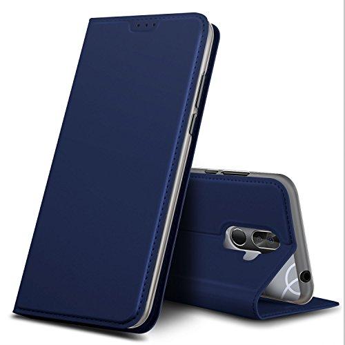 BQ Aquaris VS Plus Hülle, GeeMai Premium Flip Case Tasche Cover Hüllen mit Magnetverschluss [Standfunktion] Schutzhülle Handyhülle für BQ Aquaris VS Plus Smartphone, Blau