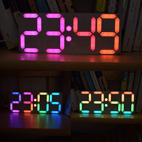 ROUHO Große Größe Regenbogenfarbe Digitalröhre Ds3231 Uhr DIY Kit - Mit Zahlen Uhr-kits